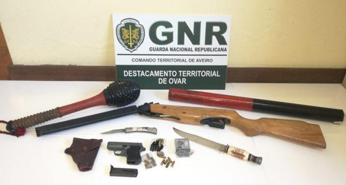 Esmoriz: Detido por violência doméstica e posse de armas ilegais
