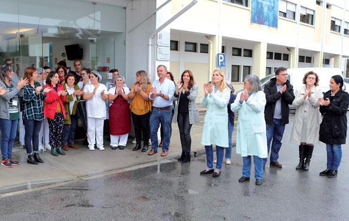 Minuto de barulho no Hospital de Ovar pelas vítimas de violência doméstica