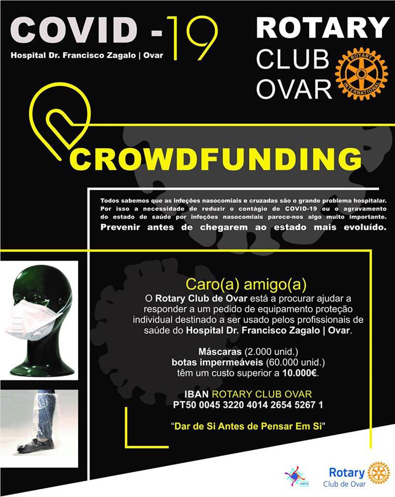 Rotary Club de Ovar lança campanha de crowdfunding a favor do Hospital de Ovar