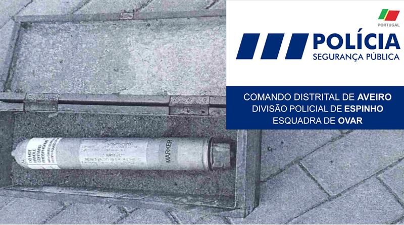 Engenho explosivo encontrado em paredão a sul do Furadouro