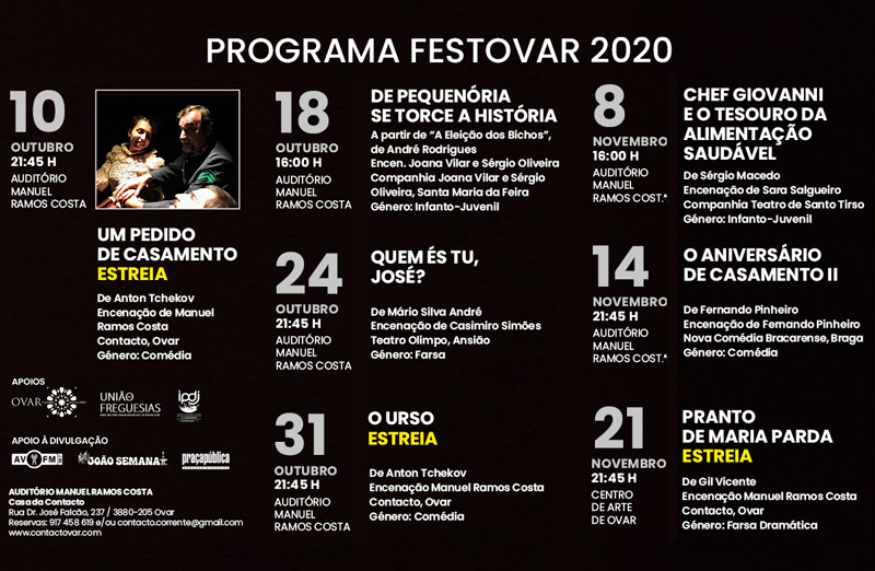 Festovar 2020: Está aí a 27ª edição do Festival de Teatro de Ovar