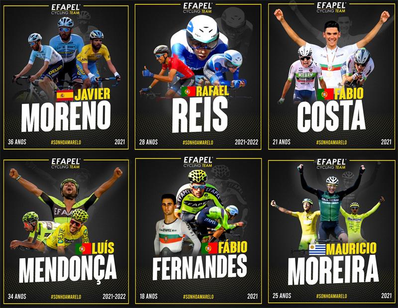 Ciclismo: EFAPEL anuncia os primeiros reforços para atacar a nova temporada
