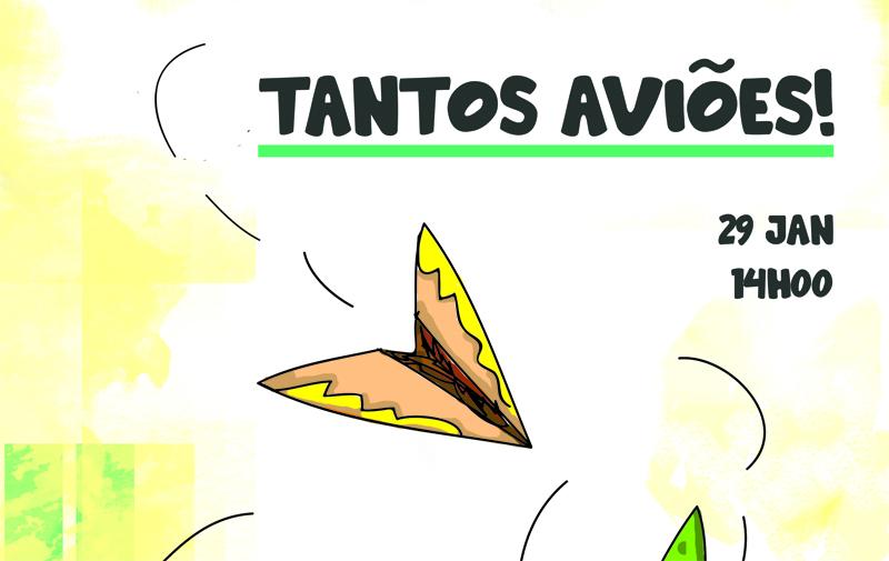 """Associação dos Antigos Alunos da Escola Oliveira Lopes promove Oficina """"Tantos Aviões"""""""