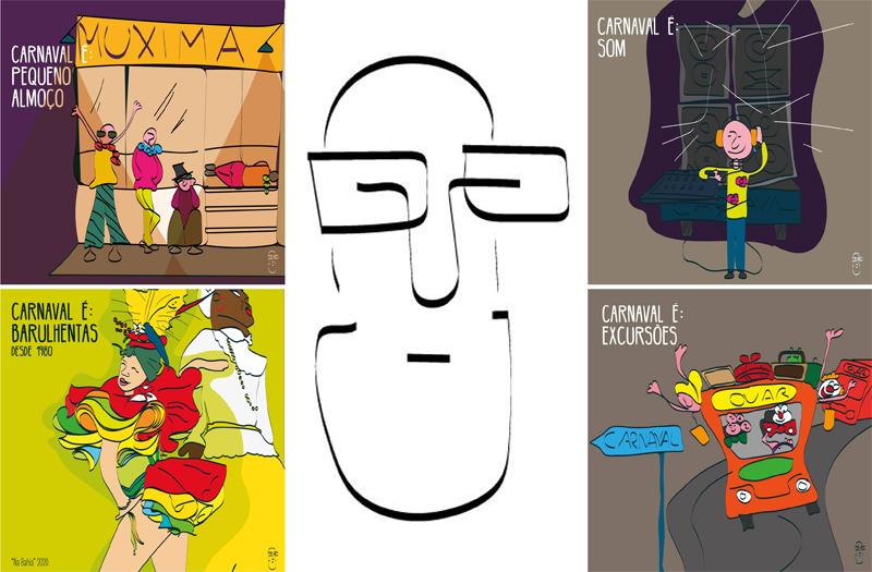 Cartoonista vareiro homenageou os foliões