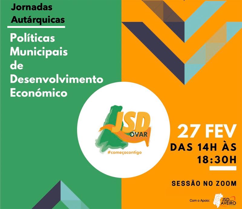 """JSD de Ovar promove formação online dedicada às """"Políticas Municipais de Desenvolvimento Económico"""""""