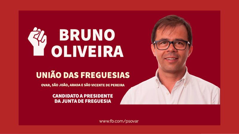 PS de Ovar recandidata Bruno Oliveira à União de Freguesias
