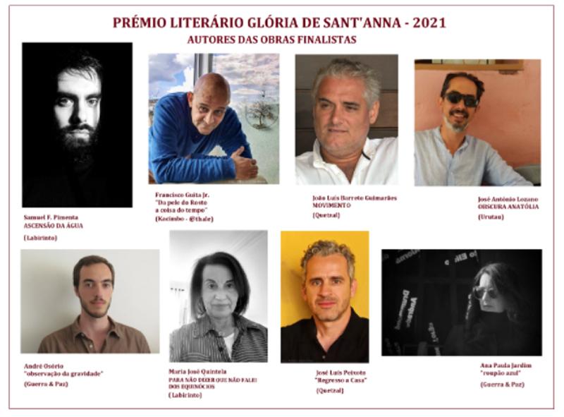 Finalistas do 9º Prémio Literário Glória de Sant'Anna já são conhecidos